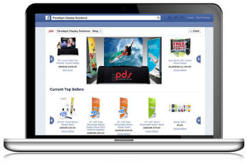 Paradigm Display Solutions Launches Facebook eCommerce Store