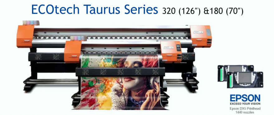 Paradigm Imaging Group introduces the NEW SID ECOTECH TAURUS SERIES OF 70″ &  126″ ECO-SOLVENT PRINTERS