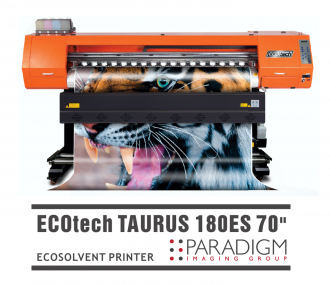 Paradigm Imaging Group introduces the NEW SID ECOTECH TAURUS 180ES 70″  ECO-SOLVENT PRINTER WITH 2 PRINTHEADS!